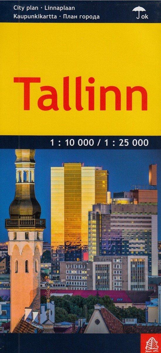 Tallinn City Map Laminated English And Russian Edition Jana