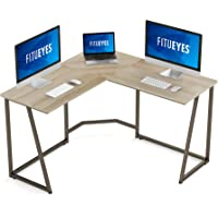 FITUEYES Modern L-Shaped Desk Corner Computer Desk for Home Office Large PC Laptop Gaming Table LCD112506WO