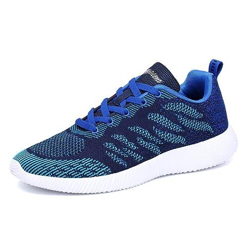 Mesily Scarpe Sportive Donna Sneaker Ultraleggero Comode e Traspiranti  Scarpe Casual per Camminare Correre Palestra Blu ff4051a5dfc