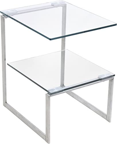 WOYBR Stainless Steel, Glass 6G End Table