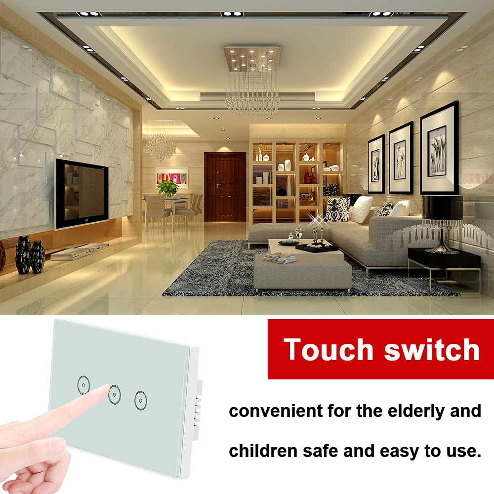 Weton Wifi Smart Wall Light Switch With Amazon Alexano Hub Required Wiring Double Dimmer Timing Touch Screen Switchremote Control Your Devices From