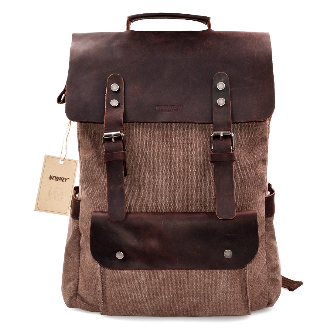 ffed7e9105 Canvas Leather Backpack 15