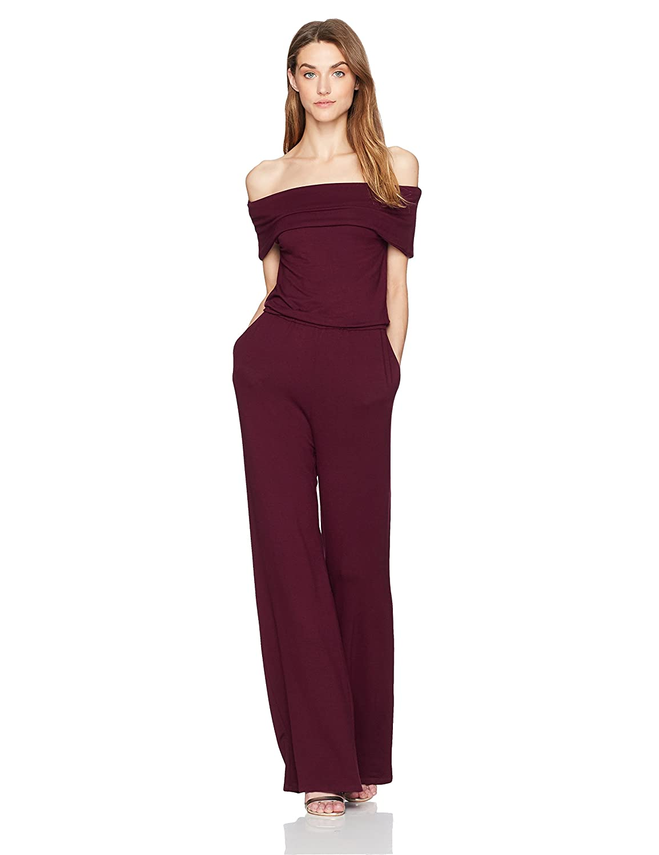 71fd66d109d Amazon.com: cupcakes and cashmere Women's Farida Off The Shoulder Jumpsuit:  Clothing