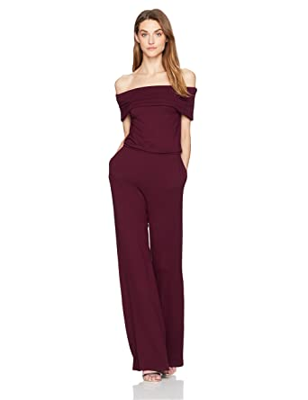 bdb76f84d0a9 Amazon.com  cupcakes and cashmere Women s Farida Off The Shoulder Jumpsuit   Clothing