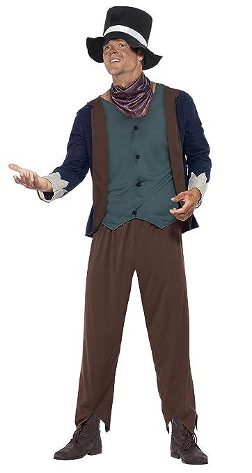 Victorian Men's Costumes: Mad Hatter, Rhet Butler, Willy Wonka Smiffys Mens Poor Victorian Man Costume $34.99 AT vintagedancer.com