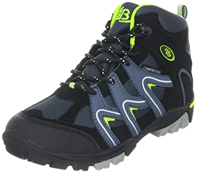 Unisex Kids Guide Low Rise Hiking Boots, Schwarz-Lemon, One Size Brütting