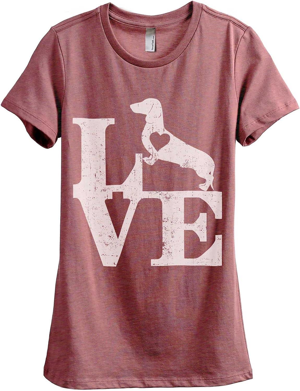 Love Dachshund Dog Women's Fashion Relaxed T-Shirt Tee