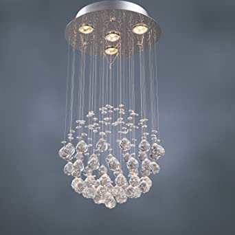 LightInTheBox Chandelier Luxury Modern Crystal Bulb Included 4 Lights Pendant Ceiling Light Fixture For