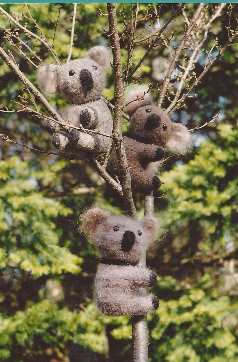 Felt Koala Fiber Trends Knitting /& Felting Pattern FT205