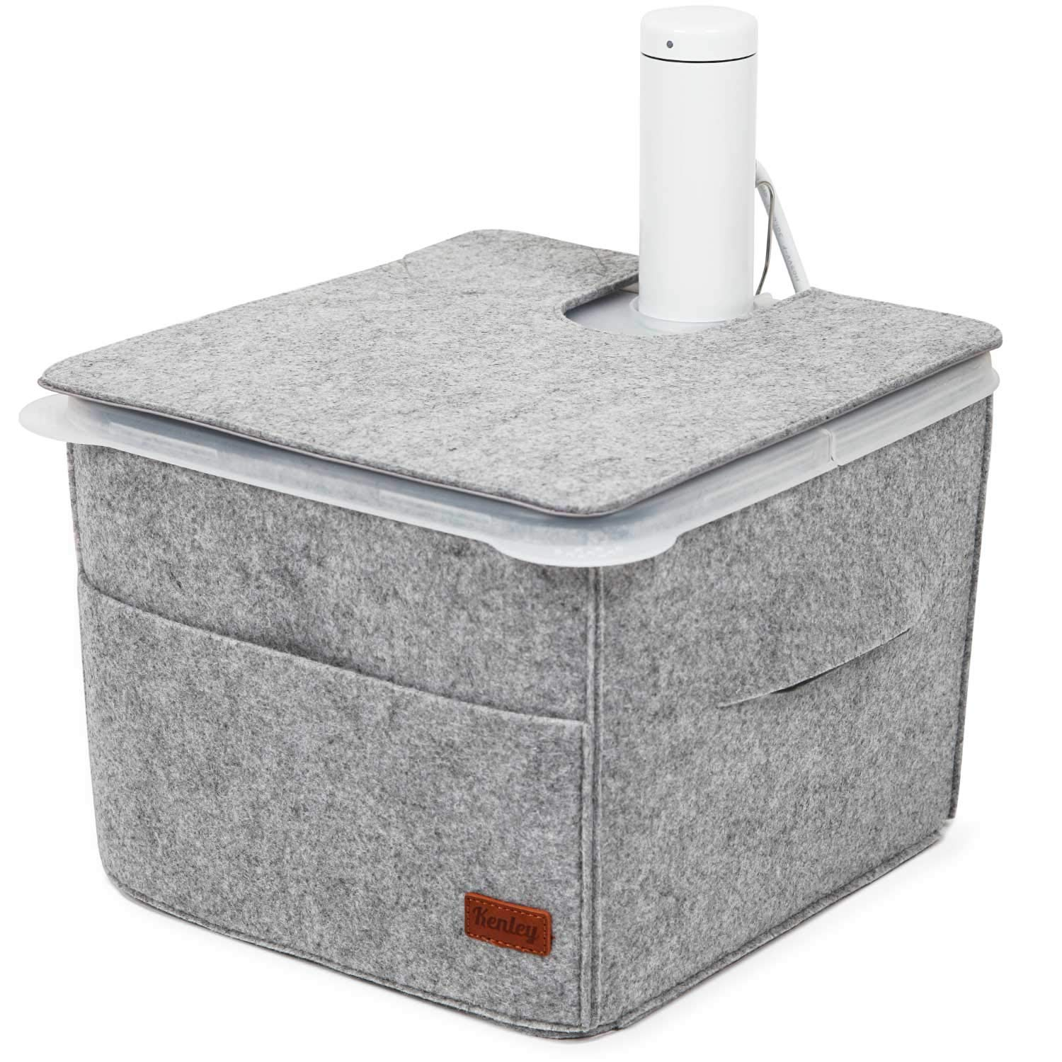 Sous Vide Container Sleeve - Insulating Cover for Rubbermaid 12 Quart Container with Lid - Heat Retention & Countertop Protection - Compatible with Side & Corner Mount Lids & Accessories by Kenley