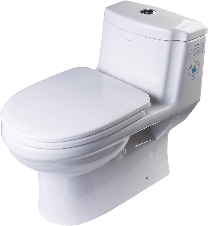 1-Piece EAGO TB222 Dual Flush Eco-Friendly Ceramic Toilet