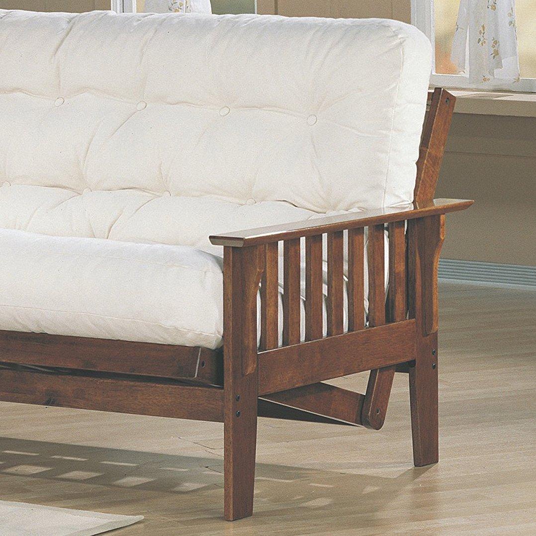Coaster Home Furnishings 4382 Traditional Futon Frame, Oak by Coaster Home Furnishings (Image #2)