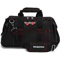 WORKPRO W081022A - Bolsa de almacenamiento para herramientas de boca ancha cerrada con base de goma impermeable (40,6 cm)
