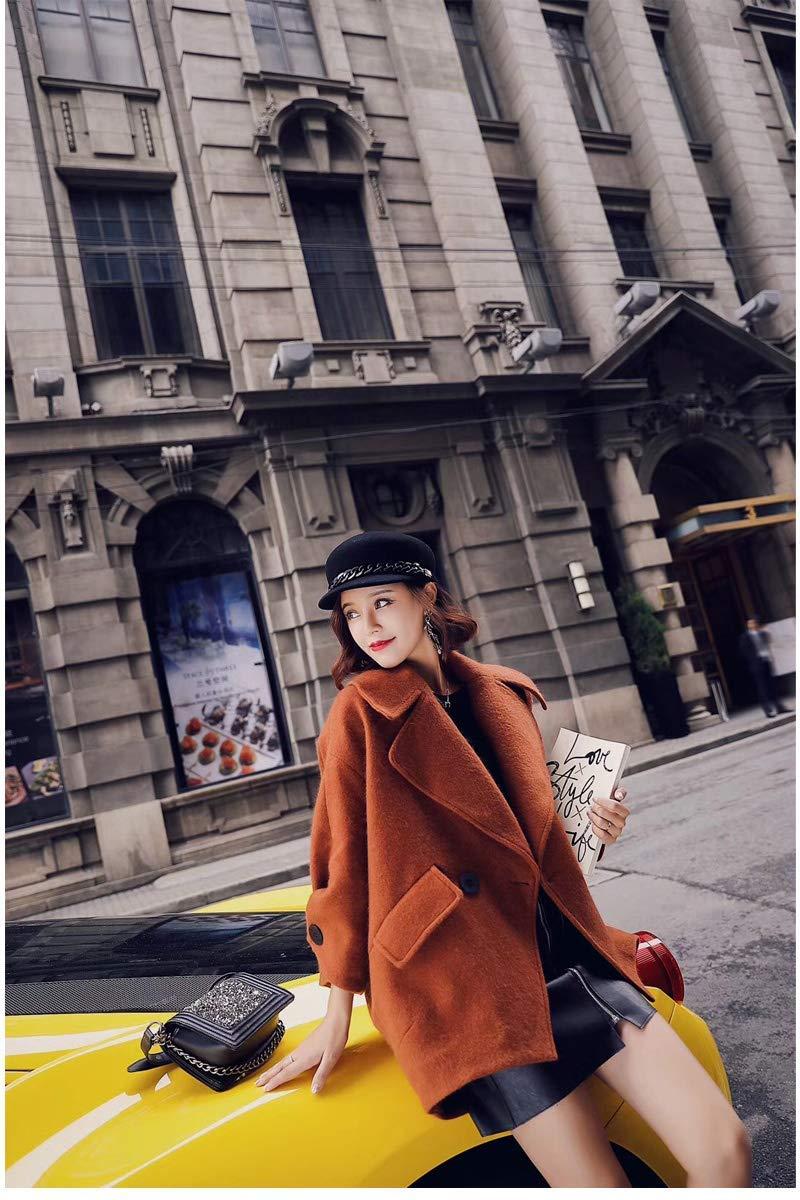Cappello caldo Cappello britannico inverno nero nero inverno Coloreeee  solido cappello di lana femminile cappello donna cappello autunno e ... d4152516b49