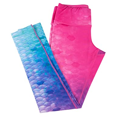 bcbce75eb645a Fin Fun Women s Mermaid Sport Leggings for Gym Workouts