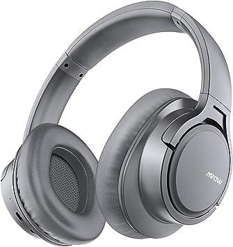 Mpow H7 Cascos Bluetooth Diadema, 25hrs de Reproducir, Hi-Fi Sonido, Cascos Bluetooth Inalámbricos con Micrófono Incorporado, Auriculares Bluetooth Diadema para TV, Móvil, PC-Gris: Amazon.es: Electrónica