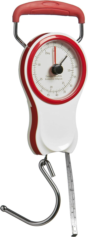 Premier Housewares 1900972 P/èse-Bagages Portable Universel en Rouge Jusqu/à 38 kg