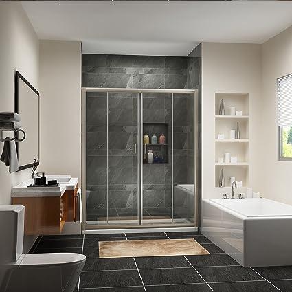 Sunny Shower Bp04p4 Frameless Sliding Doors 14 Glass Brushed