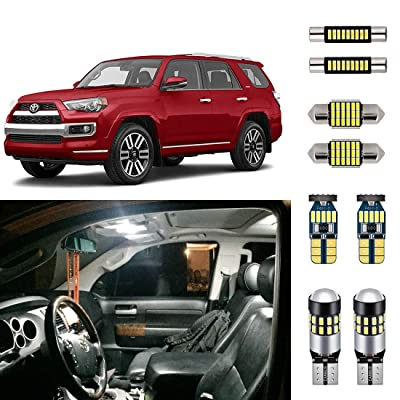 AUTOGINE Super Bright 6000K White LED Interior Light Bulbs Kit Package for 2010-2020 Toyota 4Runner + Install Tool: Automotive