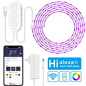 LED Strip Lights with WiFi(16.4ft), Govee Smart Phone APP Controlled 5050 LED Strips Light, Non-Waterproof 150 LEDs Music Sync LED Light Strip Works with Alexa Led Felxiable Light for Home Kitchen