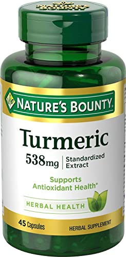 Natures Bounty Turmeric 538 mg Standardized Extract, 45 Count Pack of 2