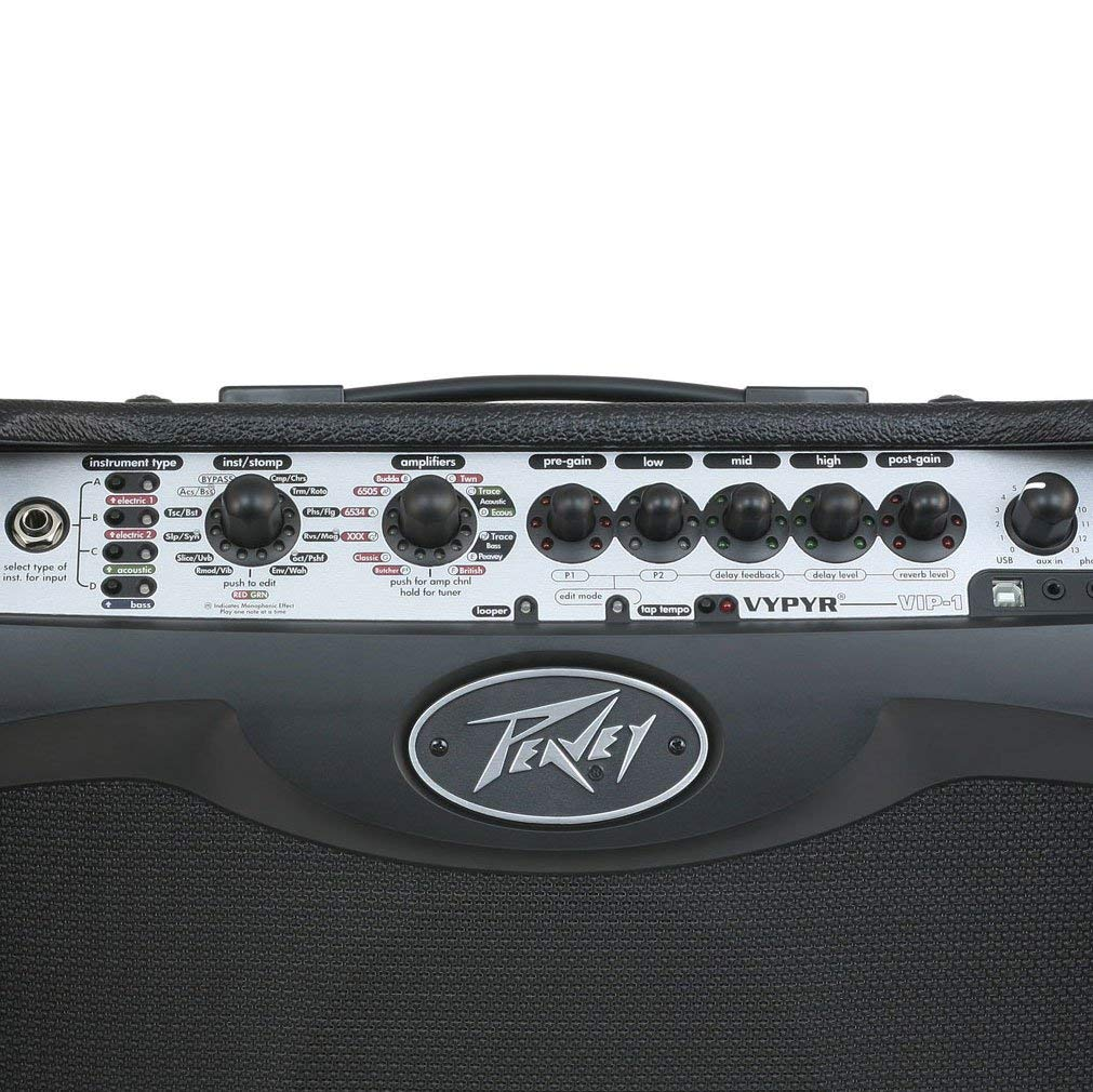 2 10 Cables Peavey Vypyr VIP 1 Combo Guitar//Bass Modeling Amplifier + Sanpera I Foot Controller