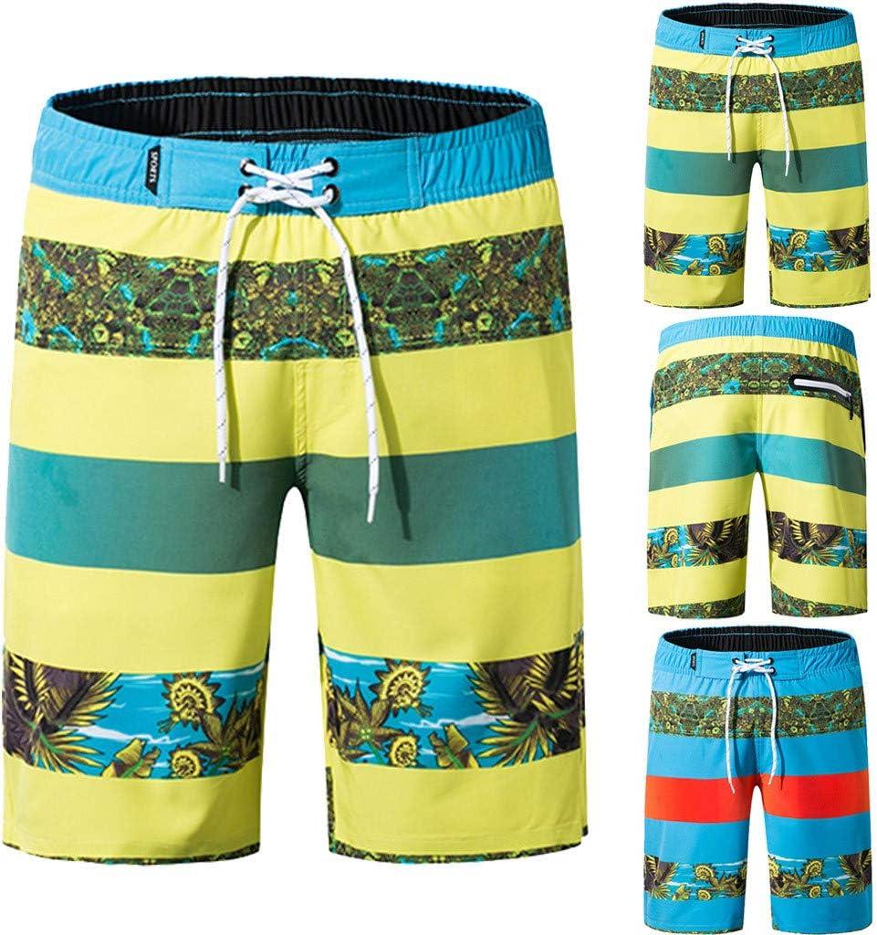 Mens Swimtrunks,Holidays Quick Dry Beach Board Shorts Swimming Running Sport Short Pants Zulmuliu