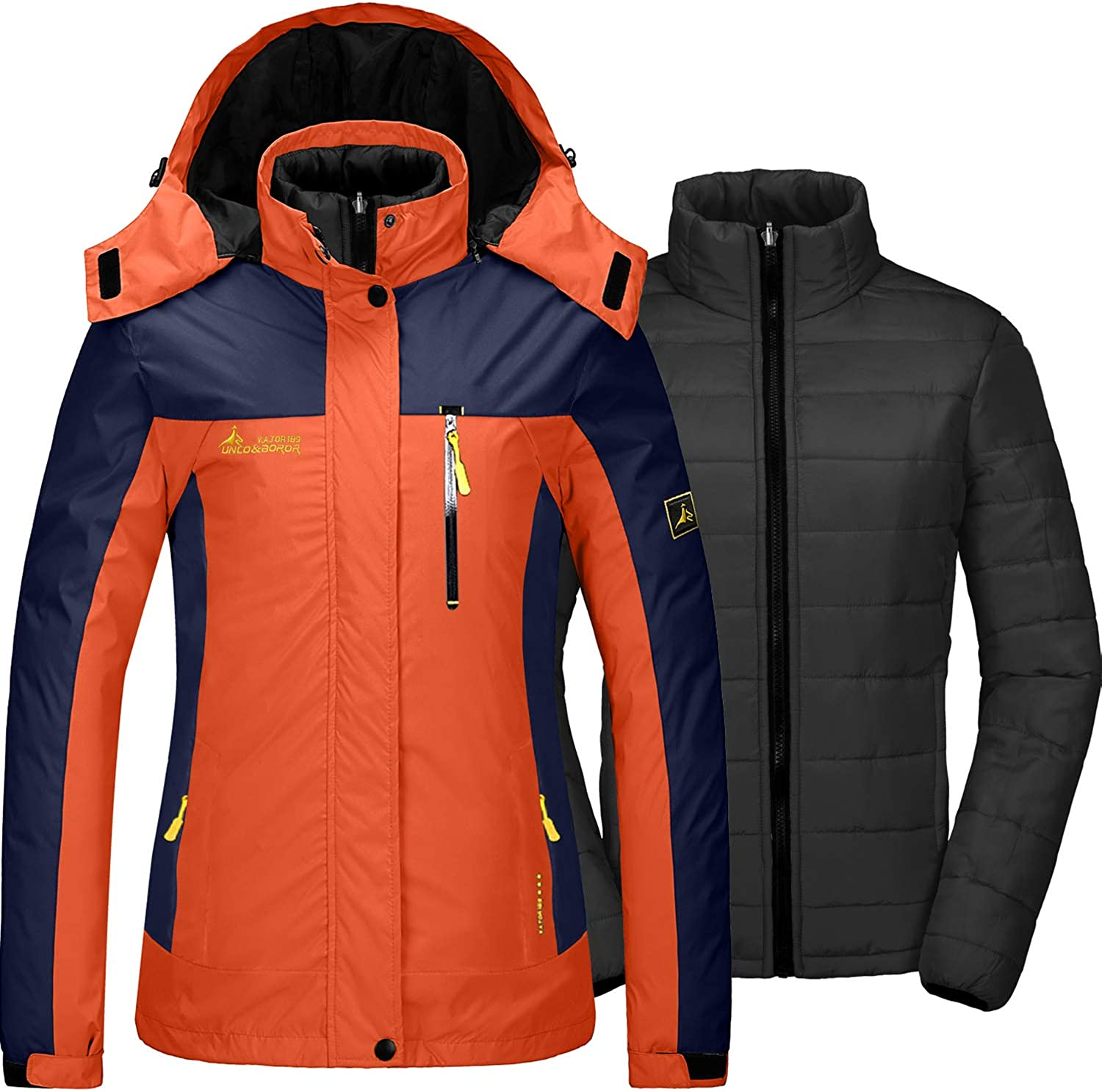 GEMYSE Women's Waterproof 3-in-1 Ski Snow Jacket Puffer Liner Insulated Winter Coat at  Women's Coats Shop