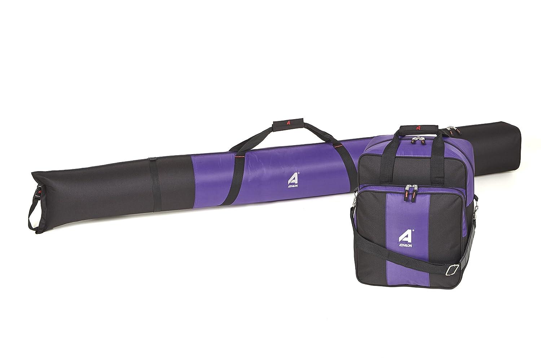 Athalon Deluxe Two-Piece Ski /& Boot Bag Combo Purple//Black