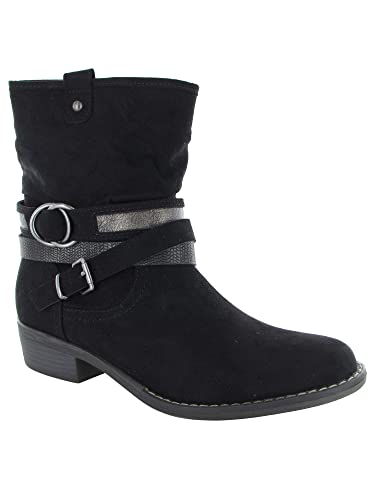 685a4a96f887 XAPPEAL Womens Shin High Low Heel Slouch Boot Shoes