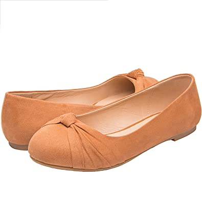 8679e4c2d47 Women s Wide Width Flat Shoes - Comfortable Slip On Round Toe Ballet Flats .(MC