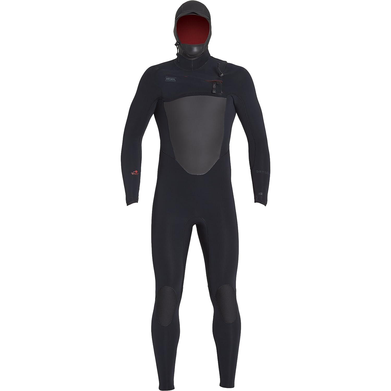 Xcel Mens 4 3mm Drylock Celliant Black Hooded Fullsuit Fall 2018, Black, Medium
