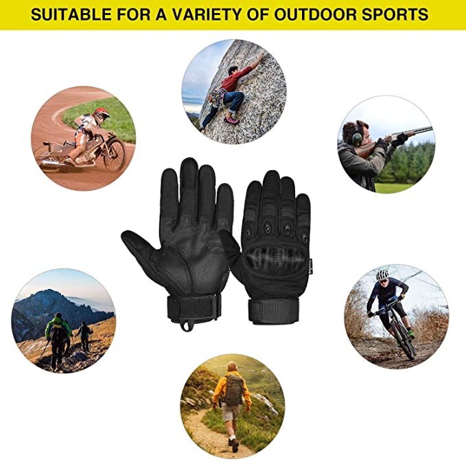Airsoft Outdoor Handschuhe Unigear Motorrad Handschuhe Herren Skifahren Milit/är mit schmalem Riegel Leichte Sommerhandschuhe auch geeignet f/ür Taktische Handschuhe