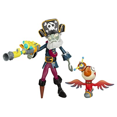 "Plants vs Zombies GW2 - 3"" Captain Deadbeard Figure with Parrot: Toys & Games"
