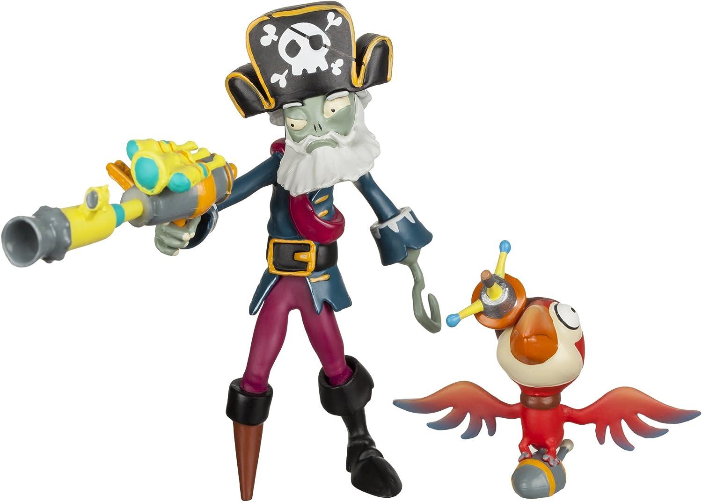 """Plants vs Zombies GW2 - 3"""" Captain Deadbeard Figure with Parrot"""