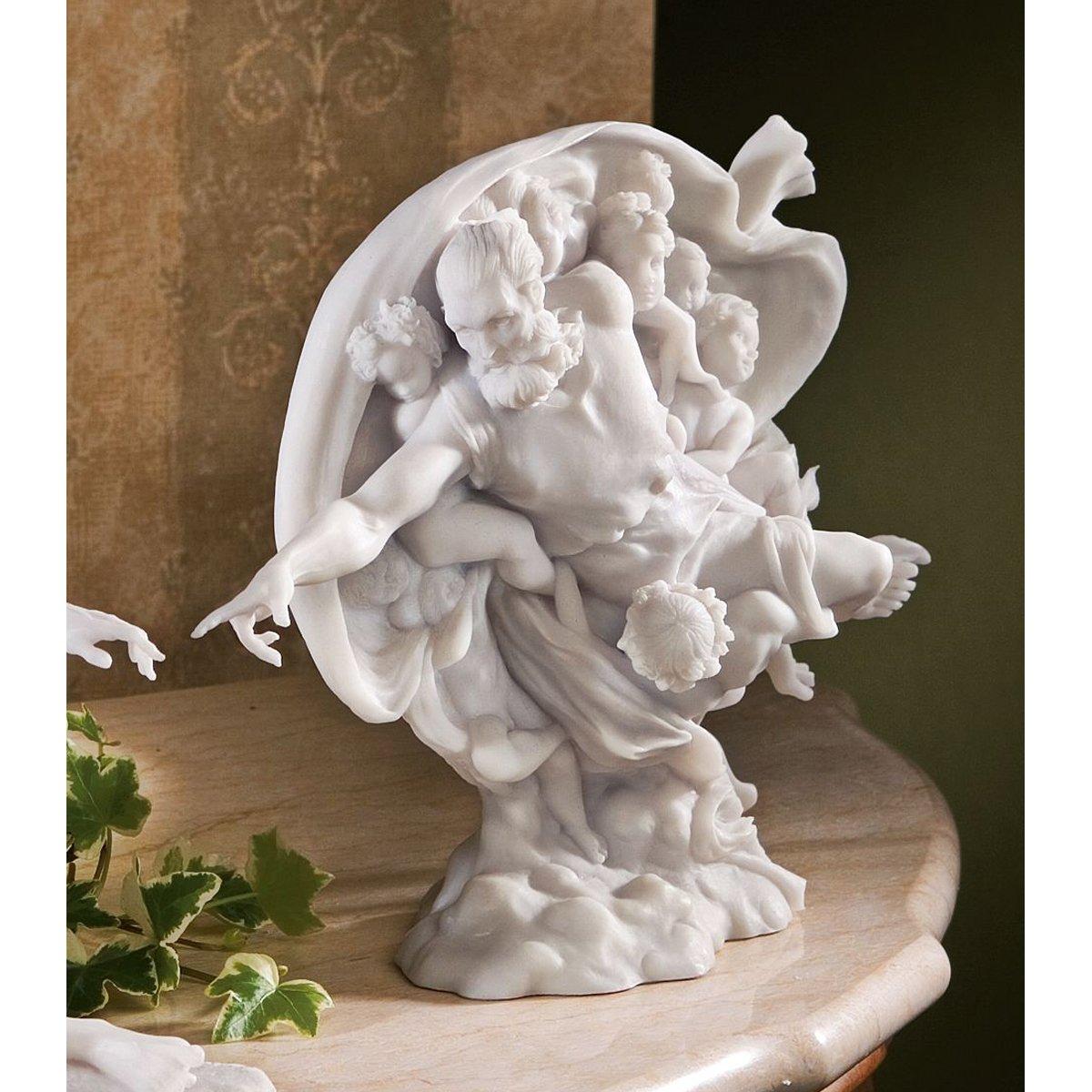 15 x 28 x 12.5 cm Design Toscano PD1967 Statuette en Marbre Lié Danaïde de Rodin Blanc