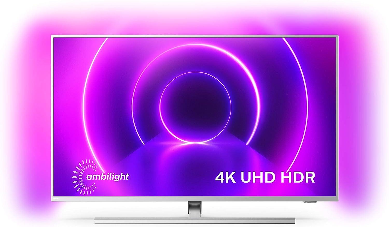 Televisor Philips Ambilight 50PUS8505/12, Smart TV de 50 pulgadas (4K UHD, P5 Perfect Picture Engine, Dolby Vision, Dolby Atmos, Control de voz, Android TV), Color plata claro (modelo de 2020/2021): Amazon.es: Electrónica