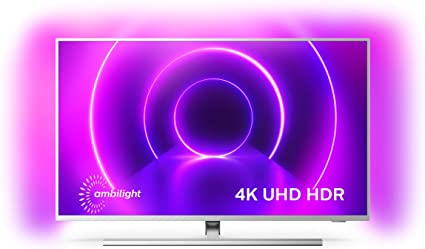 Televisor Philips Ambilight 43PUS8505/12, Smart TV de 43 pulgadas (4K UHD, P5 Perfect Picture Engine, Dolby Vision, Dolby Atmos, Control de voz, Android TV), Color plata claro (modelo de 2020/2021): Amazon.es: Electrónica