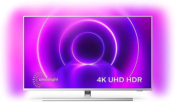 Televisor Philips Ambilight 58PUS8505/12, Smart TV de 58 Pulgadas (4K UHD, P5 Picture Engine, Dolby Vision, Dolby Atmos, Control de Voz, Android TV), Color Plata Claro (Modelo de 2020/2021): Amazon.es: Electrónica