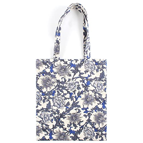 b2675ae93 Chezi Women's Peony Oversized Floral Cotton Reusable Foldable Canvas Tote  Shopping Bag ...