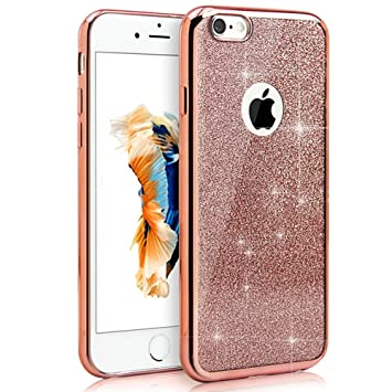 coque iphone 7 plus paillette silicone