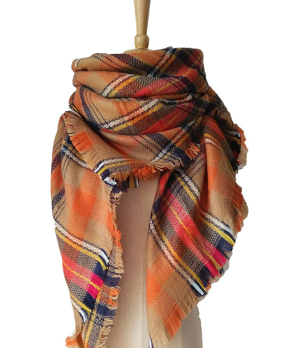 YHC Woman's Eternal Style Scarf, Classic Elegant Carpet Lattice Scarf by YHC (Image #4)