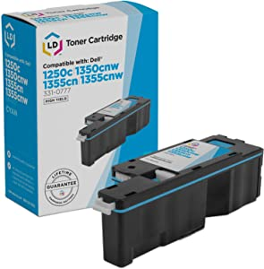 LD Compatible Toner Cartridge Replacement for Dell 331-0777 C5GC3 High Yield (Cyan)