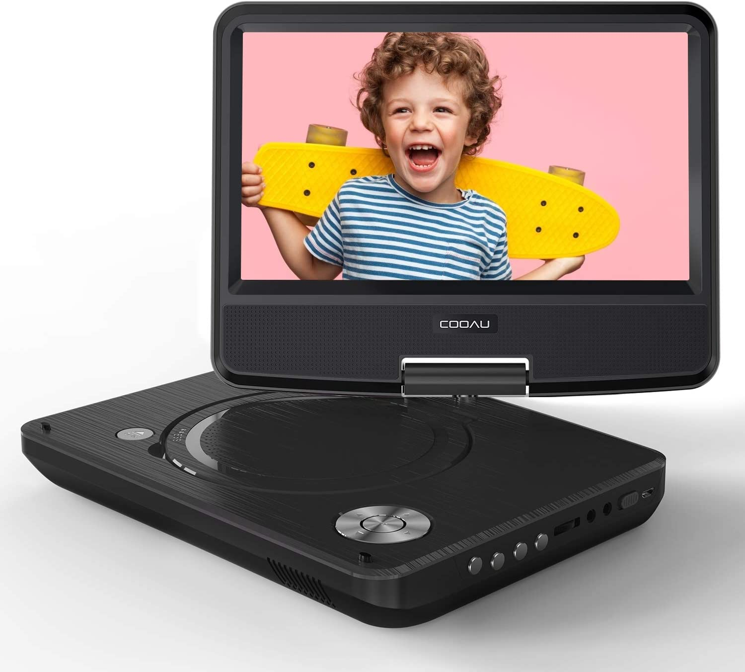 "COOAU 11"" Portable DVD Player with Eye Protection HD Swivel Screen"