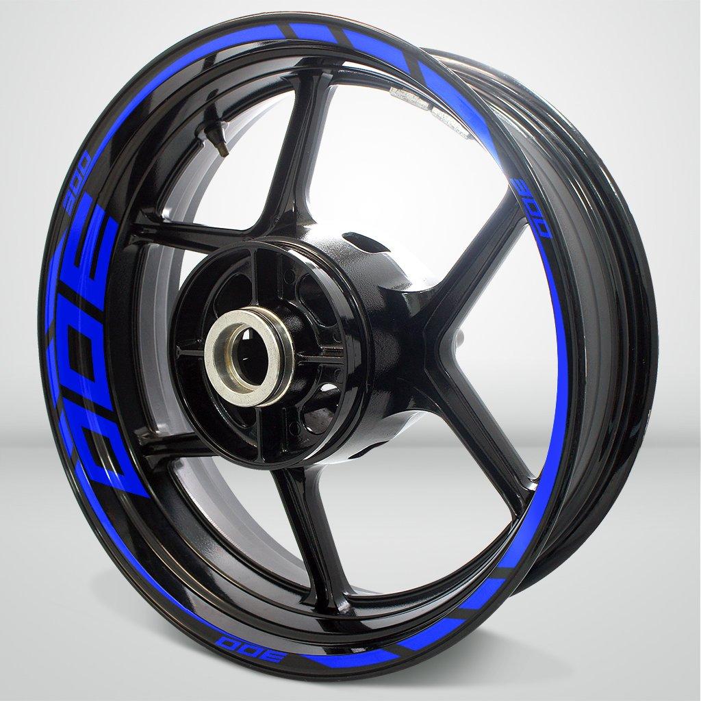 Gloss Blue Motorcycle Rim Wheel Decal Accessory Sticker for Kawasaki Ninja 300