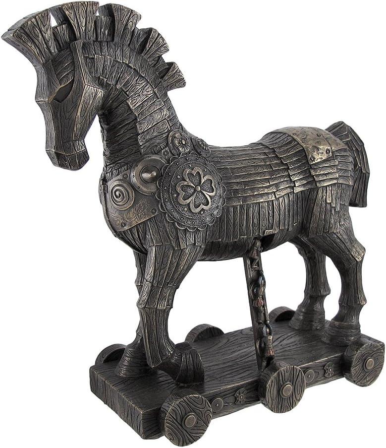 Things2Die4 Ancient Greek Bronzed Trojan Horse Statue