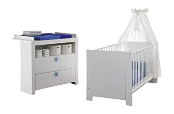 Trendteam 1553-608-01 Kit de Chambre de bébé OLIVIA 2 pièces Blanc ...