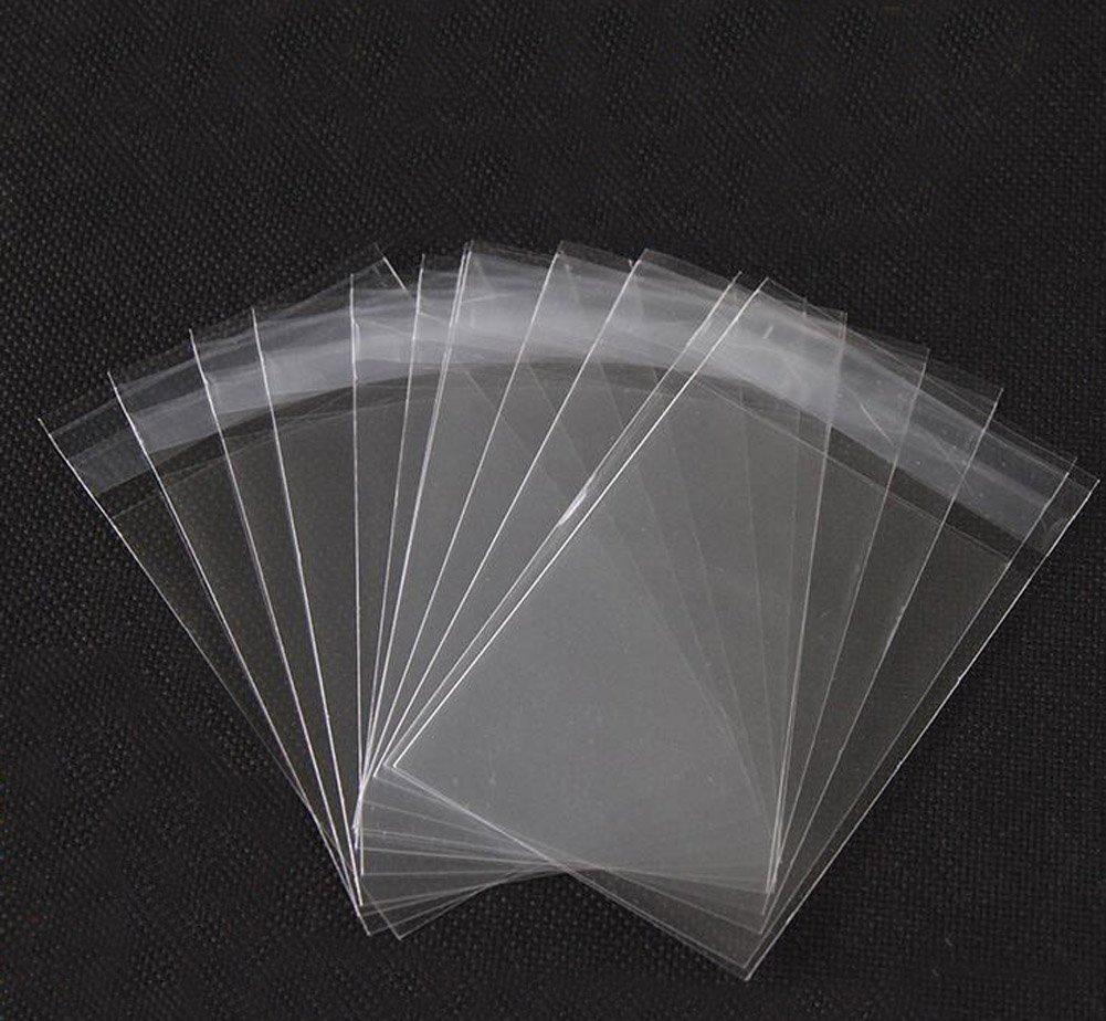 Bolsas con cierre adhesivo, 15,2 x 22,9 cm, fáciles de usar, transparentes, de celofán, regalo de Navidad