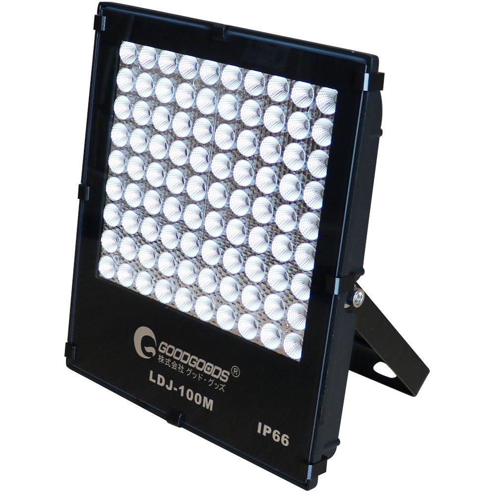 GOODGOODS LED 作業灯 100W 14040LM 極薄型 投光器 LEDライト 屋外 防水 狭角40°夜間作業 屋外照明 【一年保証】 LDJ-100M B071LBY6L7