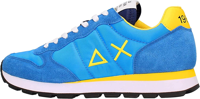 SUN68 Z30101 Chaussures de Tennis Homme Turchese Giallo
